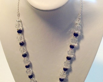 Sapphire crystal necklace FREE earrings