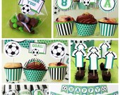 Soccer Party - Soccer Birthday - Kids Soccer Party - Printable Soccer Birthday - Soccer Printables - Soccer Decorations (Instant Download)