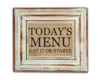 Todays menu Etsy