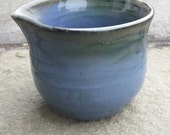 Handmade Pottery Pitcher Stoneware Antique Blue Green