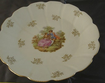 Footed Pedestal Cake Plate, L/E/C Limoges, France