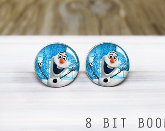 SALE: Snowman Earrings- Hypoallergenic Earrings for Sensitive Ears