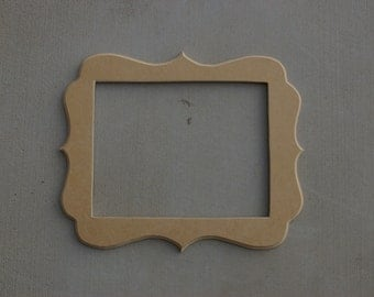 11x14  Unfinished Whimsical Picture Frame