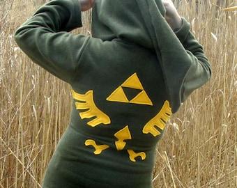 LINK Hoodie Cosplay the Legend of Zelda Deluxe w Hyrule LOGO w Zipper