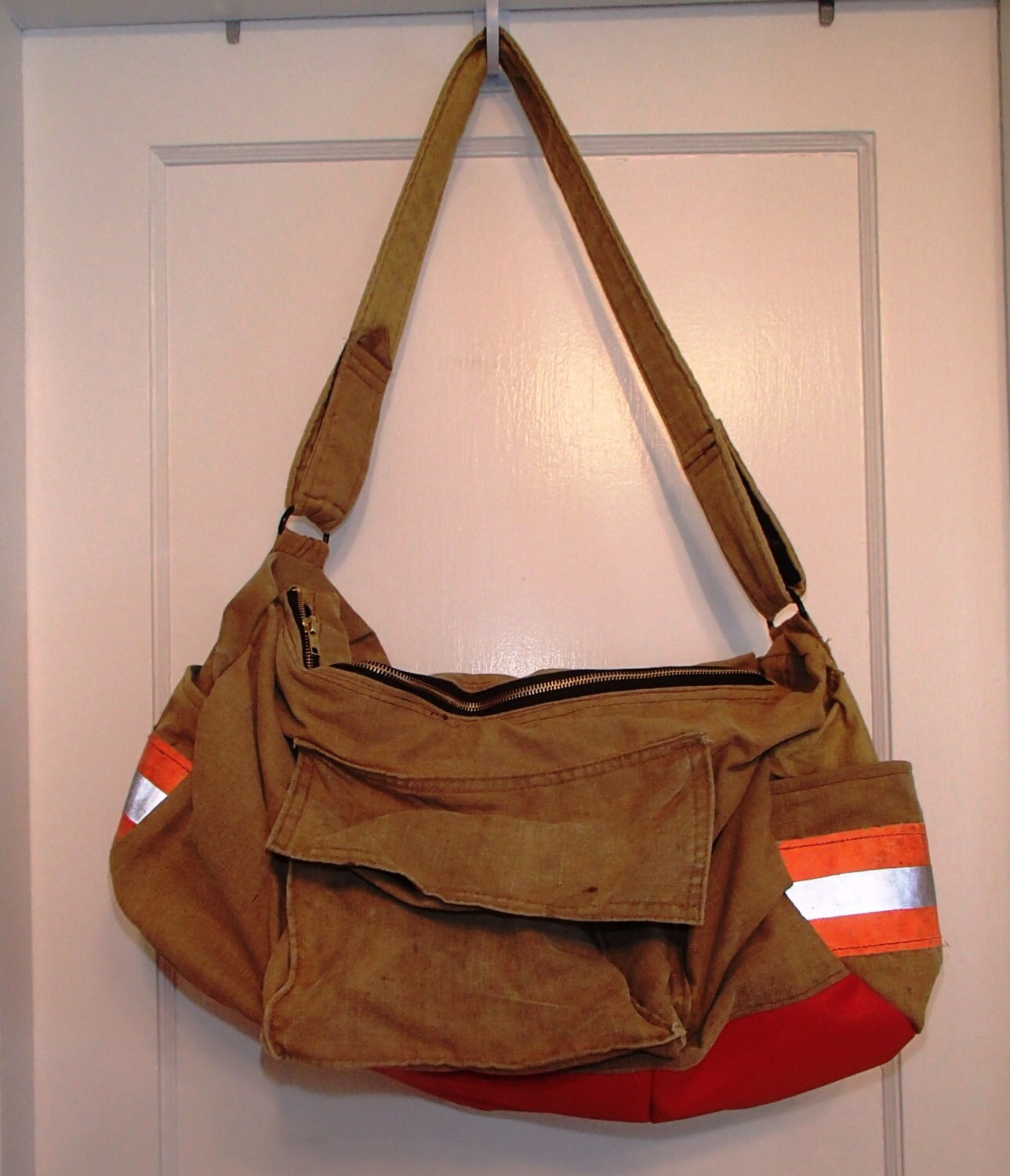 Recycled bunker gear bags - Firefighter Turnout Gear Duffle Bag