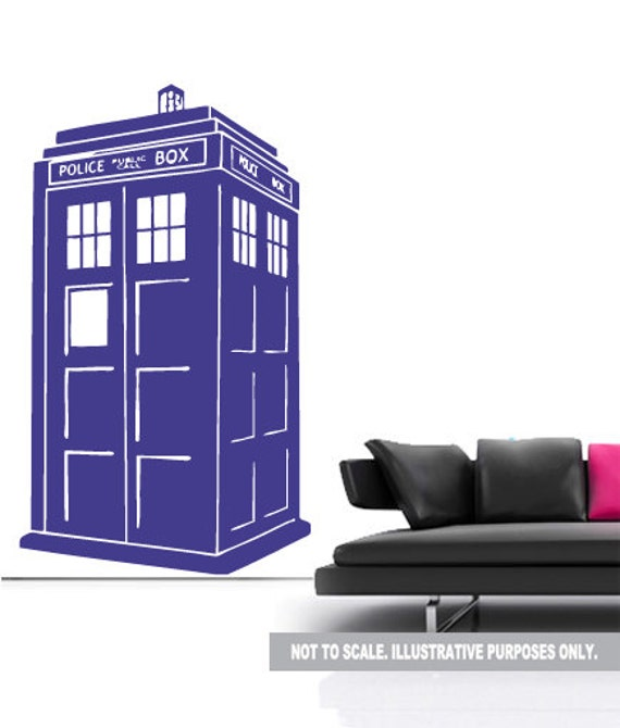 dr who tardis wall decal sticker