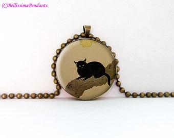 Black Cat (Kuroki Neko), Hishida Shunsō, 1 in. 25.4 mm necklace