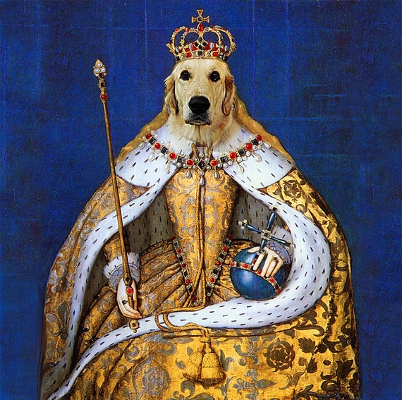 Custom Renaissance Dog Painting