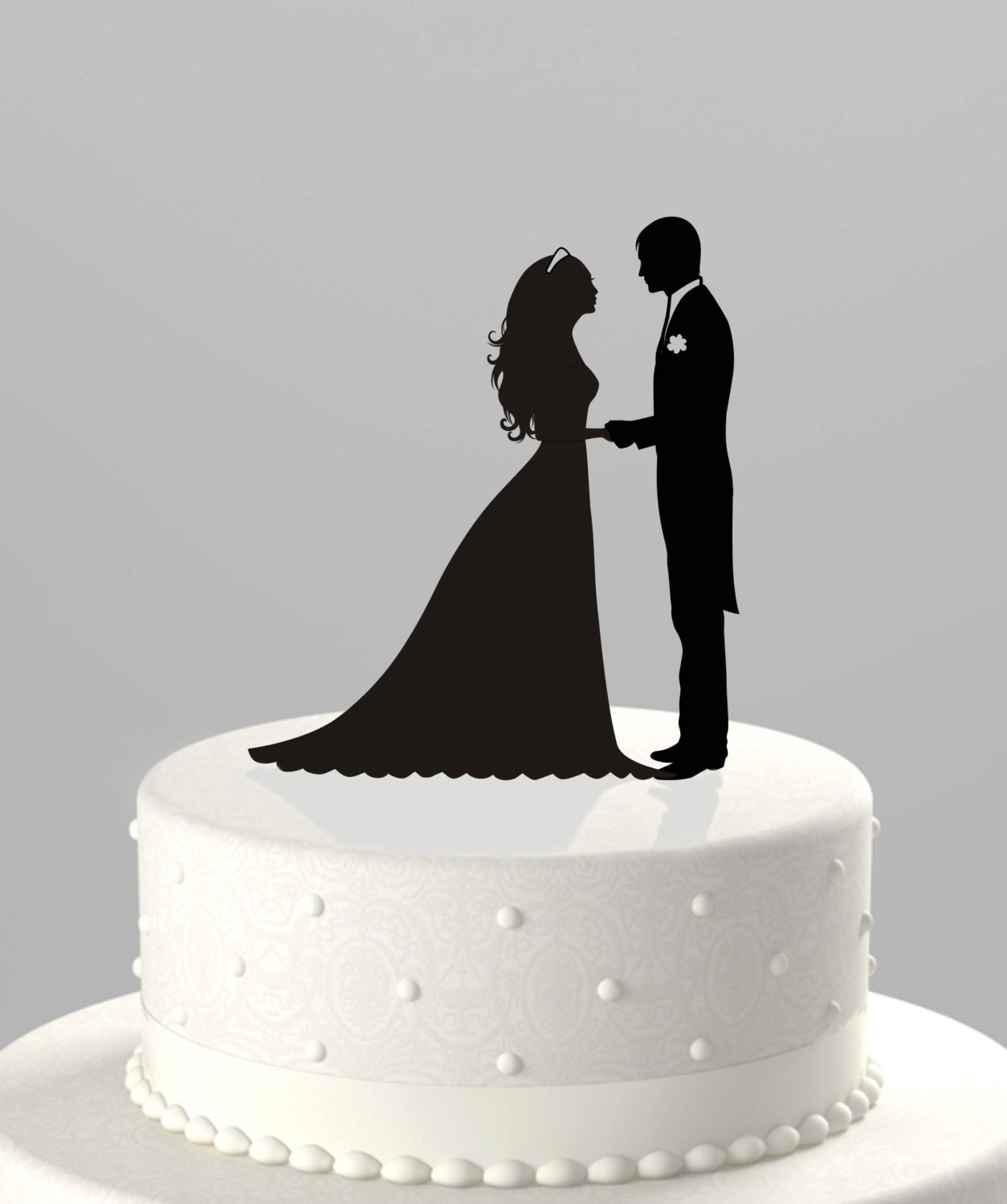 Bride Wedding Cake Topper: Wedding Cake Topper Silhouette Groom And Bride Acrylic Cake