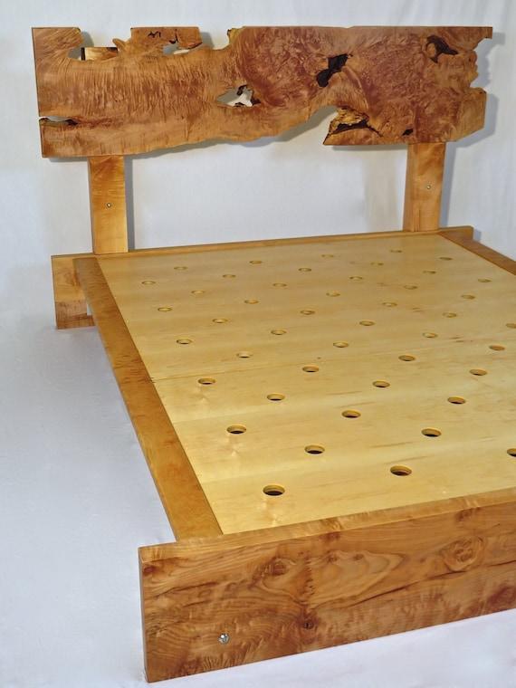 Telaio del letto artigianali dal vivo bordo acero riccio - Telaio del letto ...