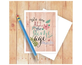 Birthday Card for Woman, Famous Quote Card, Gertrude Stein, Card for Friend, Card for Her, Pretty Birthday Card, Birthday Card Set