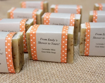 20 Personalized Soap Favors - Baby Shower Favors - Bridal Shower Favors - Wedding Favors - Mini Soap Favors - Custom Scent and Custom Labels