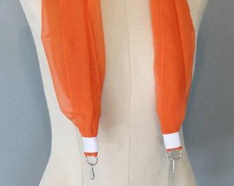 Orange scarf Camera Strap