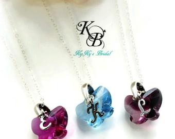 Flower Girl Jewelry Set, Butterfly Necklace, Set of 3 or More, Butterfly Jewelry, Wedding Jewelry, Flower Girl Jewelry, Flower Girl Gift