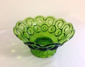 Mid Century Green Candy Bowl