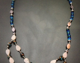 Mother-of-Pearl and Blue Glass