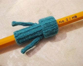 Teal Blue Pencil Sweater