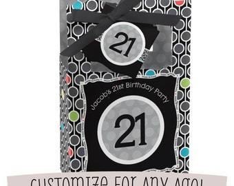 Birthday Party Favor Boxes - Custom Party Favor Bags - Set of 12