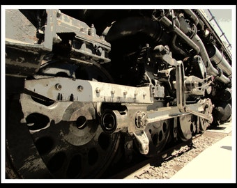 Union Pacific Big Boy 4014 Wheels and Drivers - Railroad Photography - Limited Edition Numbered Print