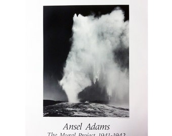 1940 1941 1942 etsy for Ansel adams the mural project