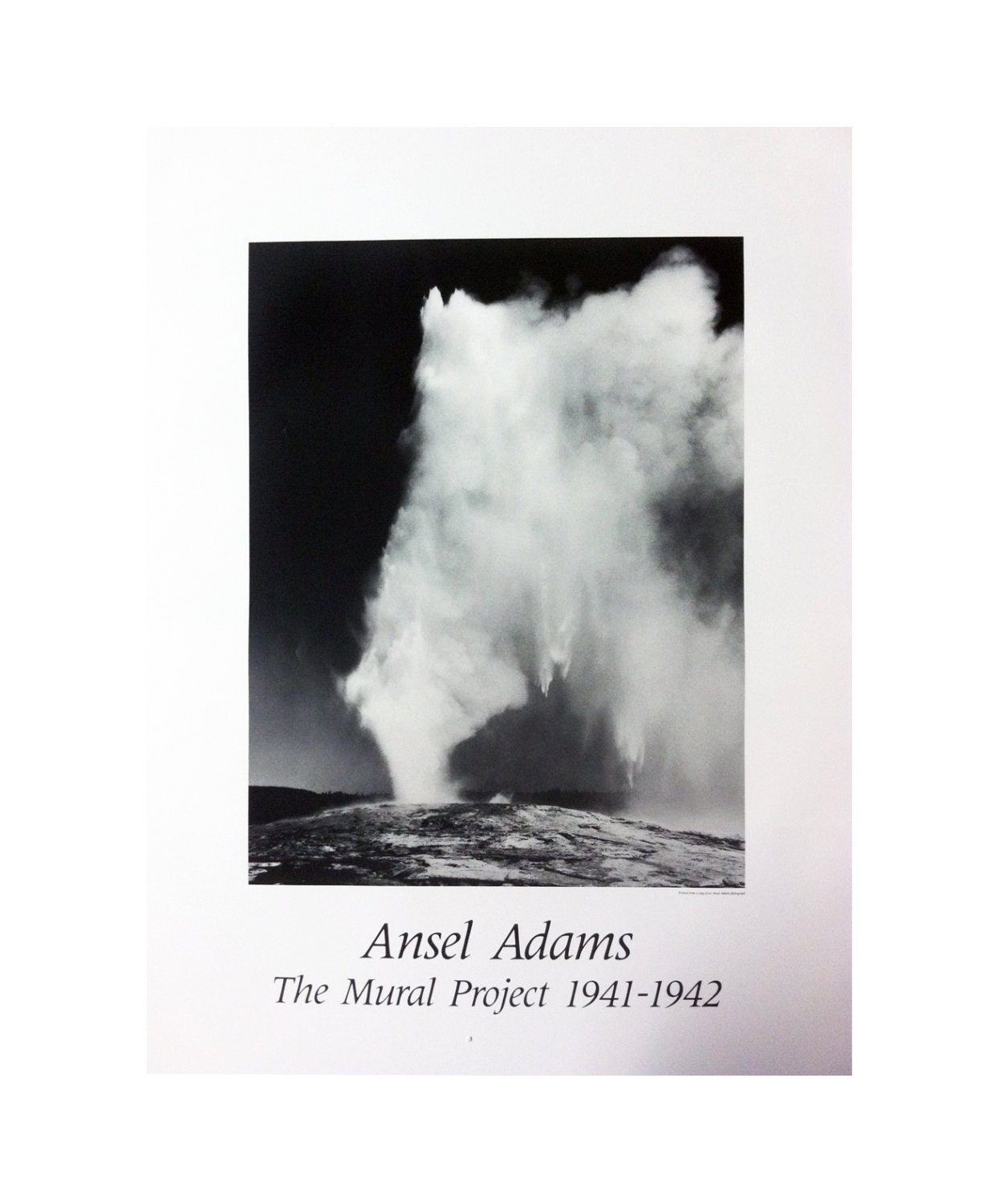Vintage ansel adams old faithful geyser the mural for Ansel adams mural project posters