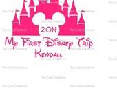 Kids First Disney Trip, Disney Castle Shirt, You Customize the Wording, Vinyl Shirt, Disney Cruise, Disney Shirt for kids, Personalized