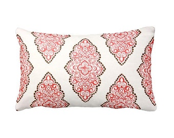 6 Sizes Available: Coral Decorative Throw Pillow Cover Coral Pillow Sofa Pillow 12x16 18x18 20x20 22x22 24x24 Inches