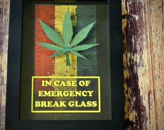 Funny Weed Decor - Marijuana Leaf Emergency Kit - 420 Gift, Pot, Weed, Cannabis, Funny Gift for Teen, Students, Gift for Him, Gift for Her