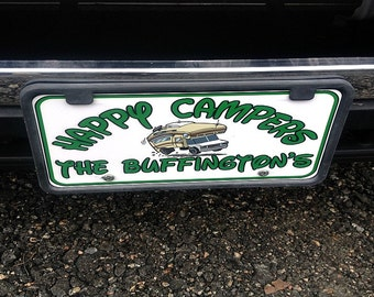 Personalized Disney Camping License Plate