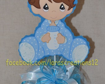 Baby Shower Centerpiece, Baby Boy Centerpiece