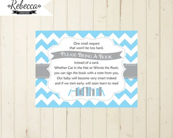 Baby Shower Book Insert Bring A Book Card Printable Bring A Book Instead Of  Card Baby