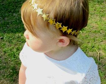 July 4th Headband, 4th of July Headband, Fourth Of July Baby Girl, Star Headband, Fourth of July Headband, Baby Headband, Gold Star Headband