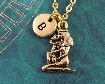 Cleopatra Necklace Egyptian Necklace Custom Necklace Personalized Necklace Engraved Necklace Monogram Necklace, Gold Necklace