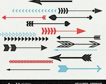 Stamped Arrows Clip art & Photoshop Brushes