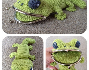 Gecko Coin / Change Purse Crochet Pattern