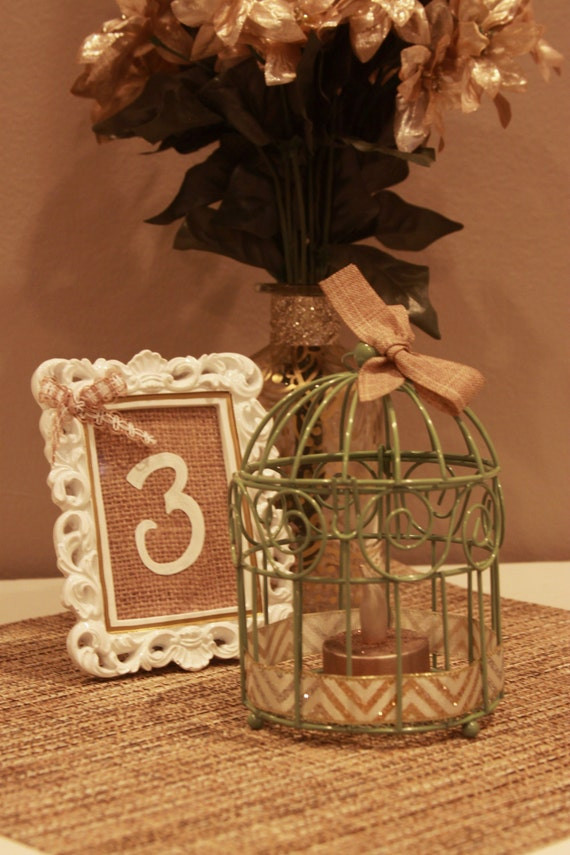 Items similar to mini bird cage centerpiece rustic