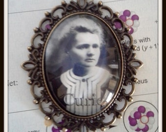 Marie Curie Keychain - Madame Curie Chemistry/ Radioactivity/ Great Scientists Accessories