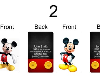 Personalized luggage tag / bag tag of Mickey Mouse