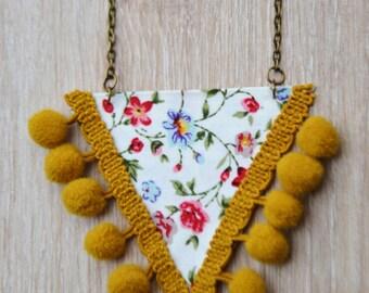 Necklace Gipsy Spirit mustard 1