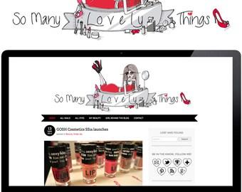 Custom Illustrated Blog Header