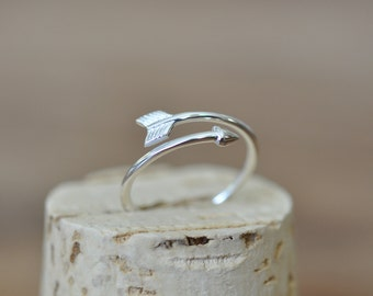 Arrow Ring in Sterling Silver 925 / Sterling Silver Arrow Ring / Minimalist Jewelry / Best Friends Ring / Jamber Jewels