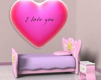 Wall decals heart A111 - Stickers coeur A111