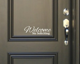 Welcome No Soliciting Sign Vinyl Decal Sticker