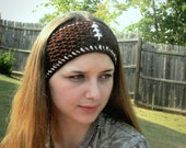 Crochet Football Headband, Earwarmers, Teen Accessory, Football Season, Cheerleader, Fall Fashion
