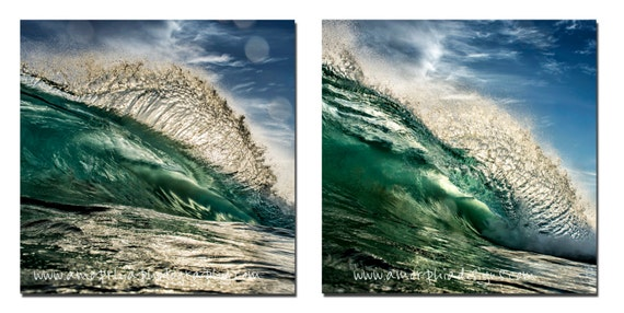 Shorebreak | Fine Art Photography | Two 10in x 10in Wave Prints