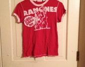 Ramones Red & White T Shirt