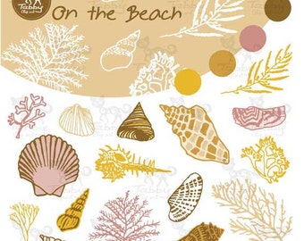 Instant Download: On the beach clipart / Sea clipart / Hand drawn / Doodle clipart