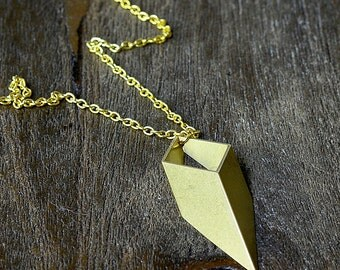 Open Geometric Diamond Necklace