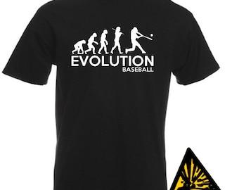 Evolution Of Man From Ape To Baseball T-Shirt Joke Funny