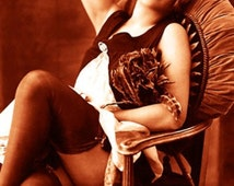 """Vintage Risque Nude Exotic - French Maid #009 Canvas Art Poster 16"""" x 24"""""""